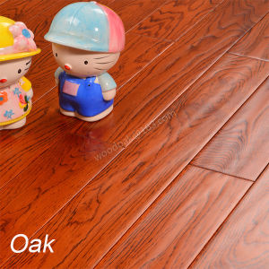 White Oak Flooring with Stain Color Handscrpaed Wood Flooring pictures & photos