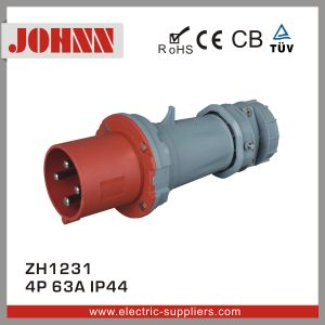 IP44 3p 63A Plug for Industrial pictures & photos