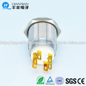 19mm Momentary Ring Illuminated New Type Brass Switch pictures & photos