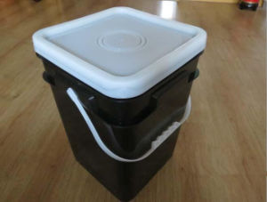 HDPE/PP Square Plastic Packaging Bucket 20L pictures & photos