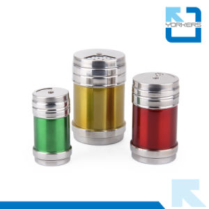 Colorful Stainless Steel Spice Jar and Salt & Pepper Shakers with Rotary Lid pictures & photos