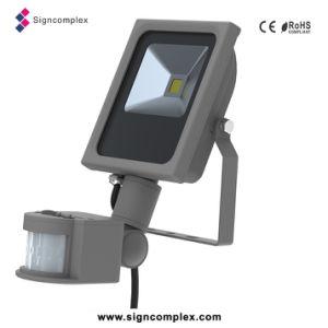 Ce RoHS Hot New COB Aluminum IP54 10W LED Flood Light Sensor pictures & photos
