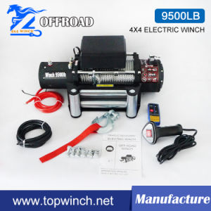 SUV Electric Utility Winch Cable Winch 9500lb-2 pictures & photos