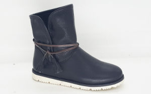 Women′s PU Low Boots pictures & photos