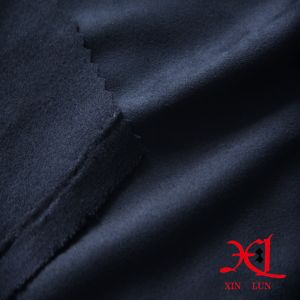 Black Brush Polyester Suede Fabric for Sofa/Hometextile pictures & photos