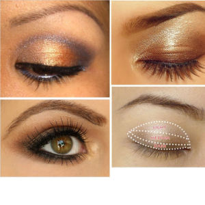 Waterproof Smoky Eyes Cosmetic 3 Colors Makeup Glitter Eyeshadow Powder Palette Es0313 pictures & photos
