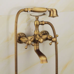 FLG Antique Brass Washroom Shower Set with Solid Brass pictures & photos