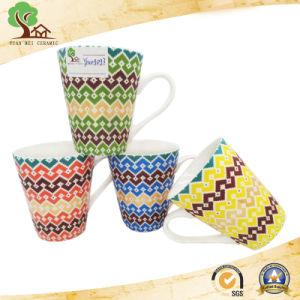China Custom Logo 11 Oz Ceramic Mug for Matte V Shape pictures & photos