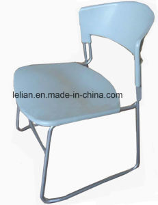 Public Plastic Stacking Chair in Metal Leg (LL-0007) pictures & photos