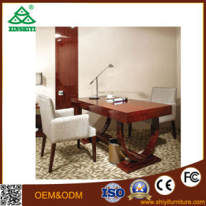 Hilton Hotel Customized Brownish Red Walnut Hotel Bedroom Furniture pictures & photos