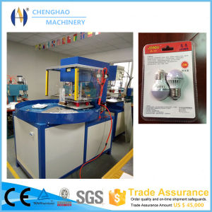 Auto-Turntable 5kw High Frequency 3 Working Stations Memory Card/LED Lamp Packaging Machine pictures & photos