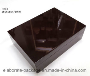 Gloss Lamination Brown Wooden Top Sale Watch Box pictures & photos