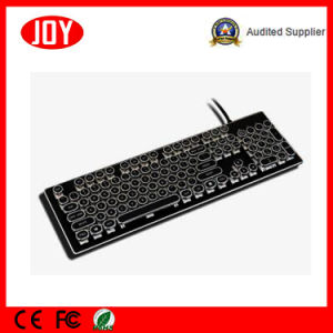 Round Shape Keycap LED Backlit USB Wired Mechanical Gaming Keyboard pictures & photos