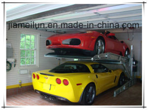 Two Post Car Storage Parking System Double Layer Auto Lift pictures & photos
