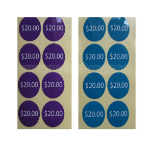 Full Color Self Adhesive Semi Glossy Water Resistant Round Price Labels pictures & photos