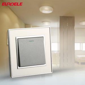 Brushed Stainless Steel Panel 2gang 1way Wall Switch pictures & photos