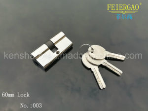 003 Factory Prices Brass Cylinder/Brass Key Lock for Aluminum Door Lock pictures & photos