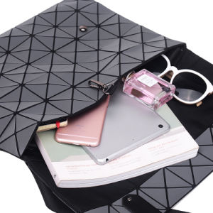 Rhombic Geometry Grey PU Unisex Women Bag (A0113) pictures & photos