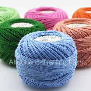 Organic Mercerized Cotton Crochet Weight Lace Kids Knitting Cotton Yarn pictures & photos