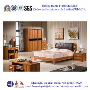 Mahogany King Size Bed Luxury Bedroom Furniture (SH-017#) pictures & photos