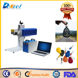 Portable 20W Dekcel CNC Fiber Laser Marking Machine for Leather pictures & photos