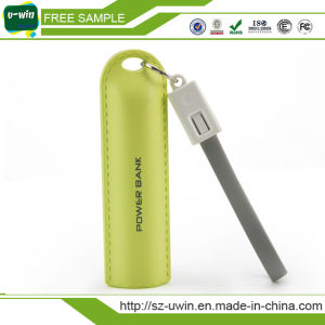 Outdoor Sports Leather Bracelet 2600mAh Portable Phone Charger pictures & photos