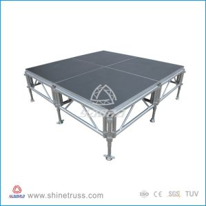 1.5m High Aluminum Frame Plywood Platform Stage Outdoor Mobile Stage for Sale with Guidrails pictures & photos