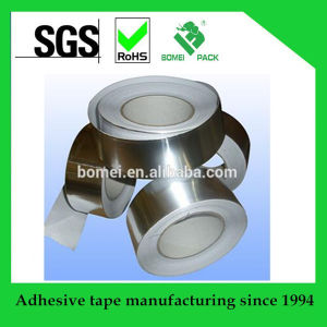 Heat Resistent Sliver Adhesivie Aluminum Foil Tape for Pipes pictures & photos