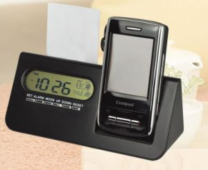 Clock with Mobile Holder Name Care Holder Clock Set pictures & photos