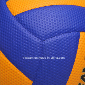 Match Quality Colorful Original Leather Volleyball pictures & photos