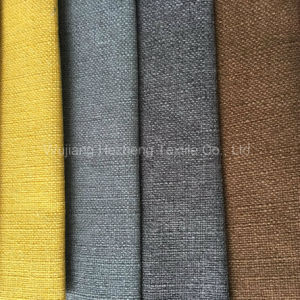 Hzr40 Polyeseter Linen Upholstery Fabric for Sofa pictures & photos