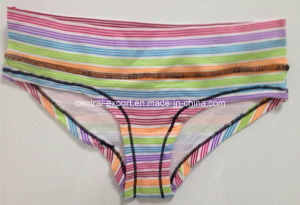 Cotton Striped Sexy Women Underear Lady Panty pictures & photos