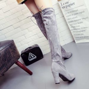 The Winter Cotton Boots and Warm Star with a Thin High-Heeled Boots Knee Boots with Rough Trade Code pictures & photos
