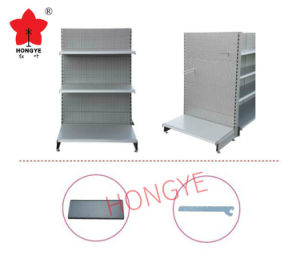 European Metal Gondola Supermarket Display Rack Shelf System (HY-009) pictures & photos