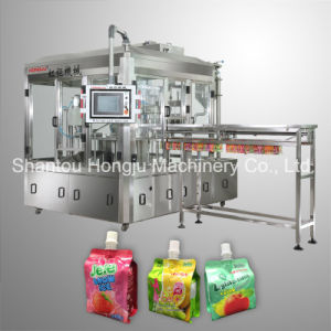 Small Volume Jelly Filling Machine for Side Gusset Pouch pictures & photos
