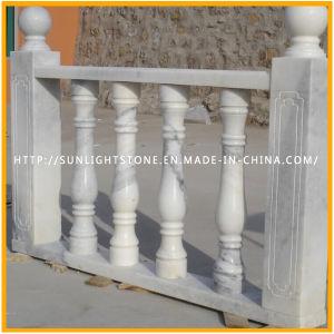 Stone Carving White/Yellow Marble Stone Roman Column/Pillar pictures & photos