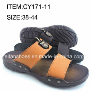 Slip-on Men Summer Casual Slippers Comfortable Beach Sandals (FFCY0411-01) pictures & photos