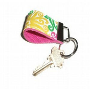 High Quality Fashion Custom Fabric Key Chain/Ring pictures & photos