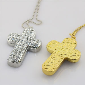Diamond Cross Necklace 32GB USB Flash Drive Memorial Stick pictures & photos