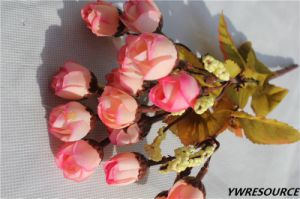 Indoor Decorative Wholesale Artificial Flower Rose Hand Made Silk Rosa pictures & photos