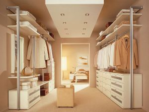 White PVC Wooden Built in Wardrobes pictures & photos