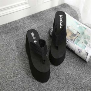 7 Cm Thick Bottom Color Towel, Flip Flops, Anti Slip, High Heels, Slippers, Summer pictures & photos