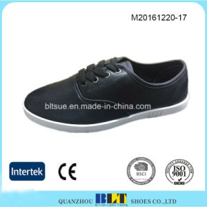 Black High Quality Fashion Style PU Upper Men′s Shoe pictures & photos