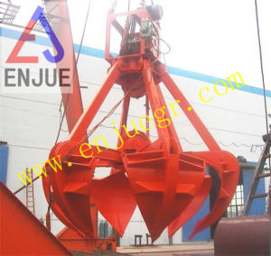 Mechanical Four Rope Orange Peel Grab Bucket for Port Crane Loading Bulk Cargo pictures & photos