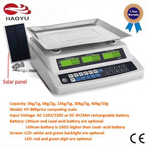 Soler Panel Energy Save Electronic Price Weighing Scale pictures & photos