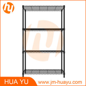 Powder Coating Black 3-Tiered Wire Shelf/Storage Shelving pictures & photos