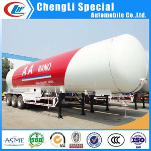 60000liters Tri-Axle Propane LPG Gas Transport Tanker Semi Trailer 30tons for Skid Filling Use pictures & photos