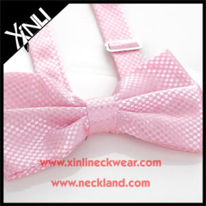 Polyester Woven Fashion Wedding Pink Bow Tie pictures & photos