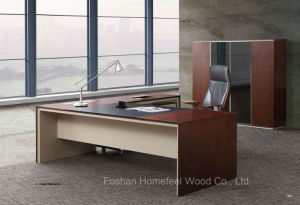 L Shape Modern Wooden Furniture Executive Office Table (HF-SI003) pictures & photos
