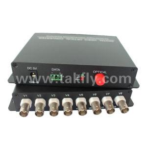 Singlemode 20/40/80km 8 Channel Fiber Optic Video Converter for Ahd/Cvi/Tvi/HD pictures & photos
